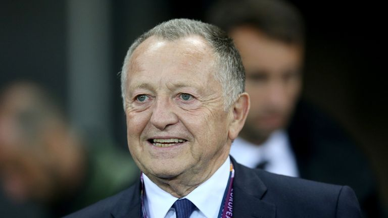 Lyon president Jean-Michel Aulas is attempting to hang on to Lacazette