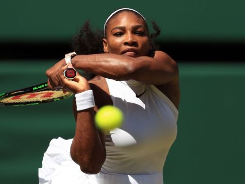 Serena Williams needed just 49 minutes to reach the Wimbledon final