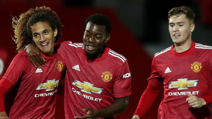 Manchester United U21s eased past Salford City in their EFL Trophy clash