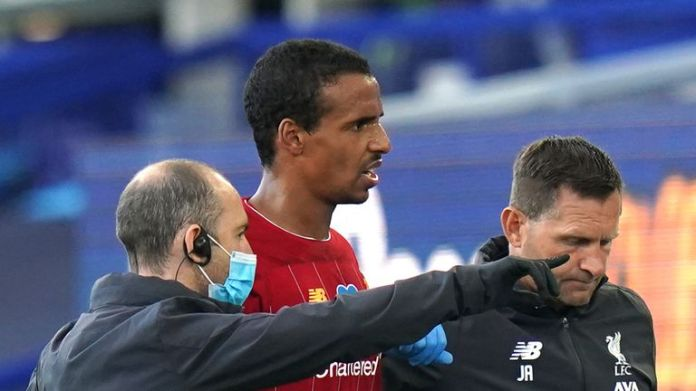 Liverpool defender Joel Matip was injured in the 2-2 draw at Everton