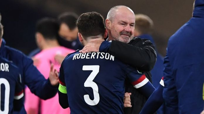 Steve Clarke and Andy Robertson