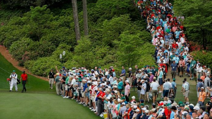 Patrons lined the fairways and took the best vantage spots to watch Woods throughout the four rounds