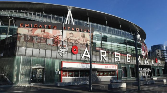 Exterior of Arsenal's Emirates Stadium
