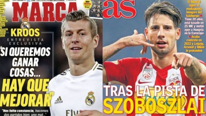 Toni Kroos told Marca things 'must improve' while AS claim Madrid have targeted Hungarian star Dominik Szoboszlai