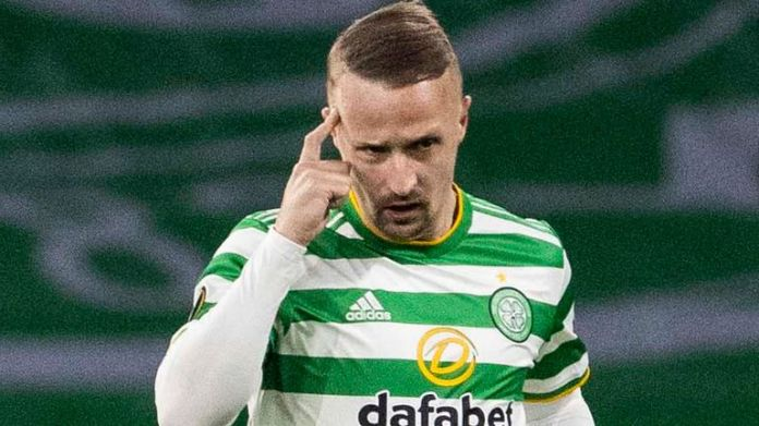 Celtic's Leigh Griffiths celebrates his goal against Sparta Prague