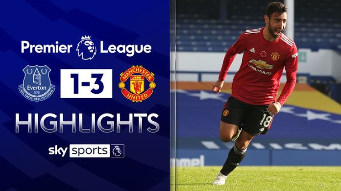 EVERTON 1-3 MANCHESTER UNITED