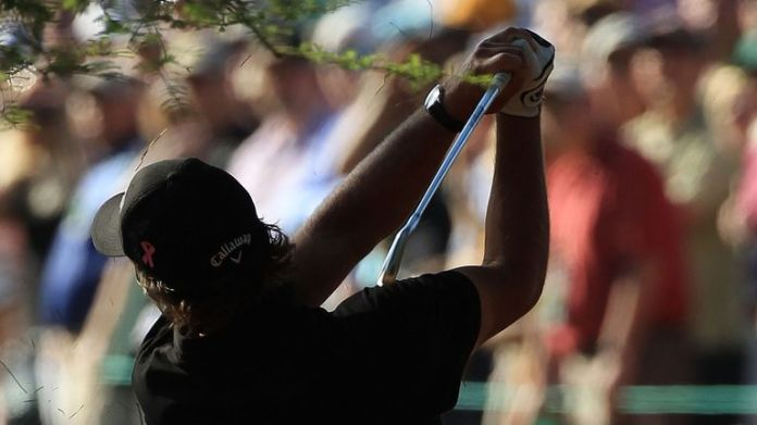 Phil Mickelson carded five birdies during his final round in 2010