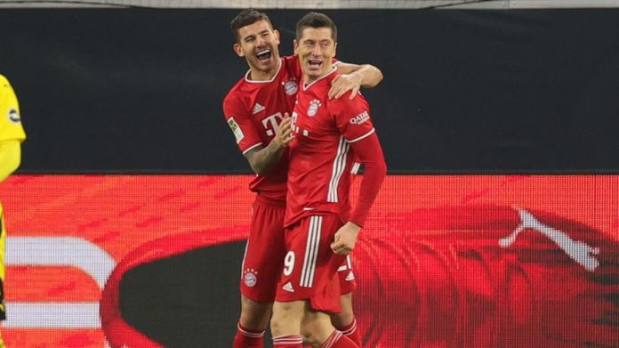 Robert Lewandowski put Bayern ahead