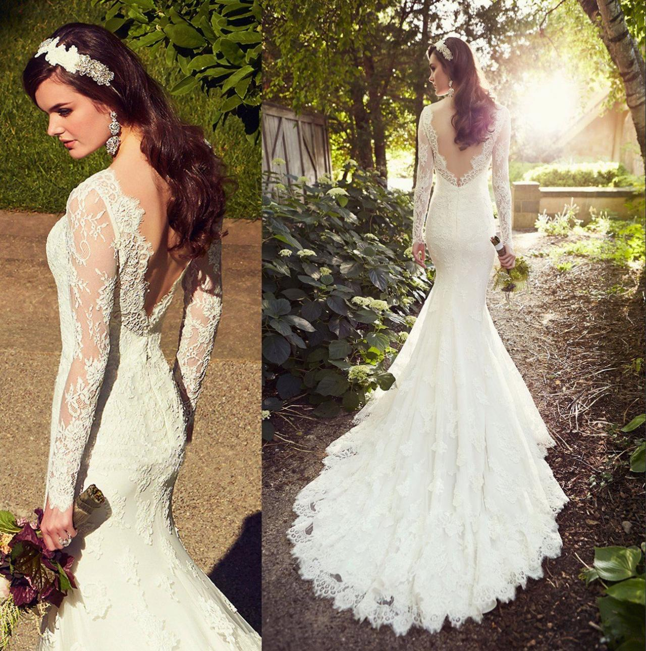 white wedding dresses long sleeves wedding gown lace wedding gowns ball gown bridal dress princess w wedding dresses long train White Wedding Dresses Long Sleeves Wedding Gown Lace Wedding Gowns Ball Gown Bridal Dress Princess Wedding Dress Beautiful Brides Dress With Long Train