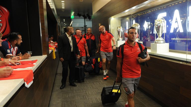 Santi Cazorla captained the side in Los Angeles