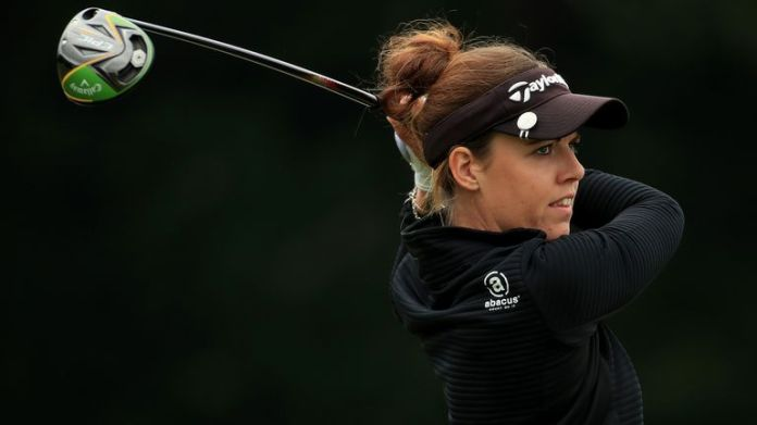 Meghan MacLaren mixed three birdies with as many bogeys during the final round