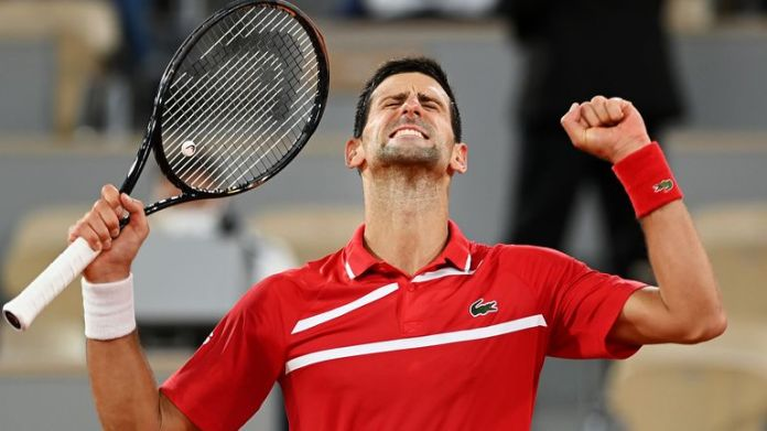 Djokovic won his eight Australian Open, the Cincinnati Masters and a record 36th ATP Masters title in Rome