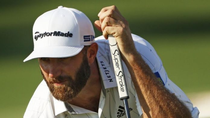 Dustin Johnson equalled the 54-hole record at Augusta National by getting to 16 under