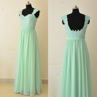 Sage Lace Bridesmaid Dresses, Sweetheart Floor-length ...