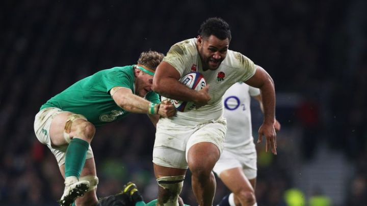Billy Vunipola  makes a now trademark charge