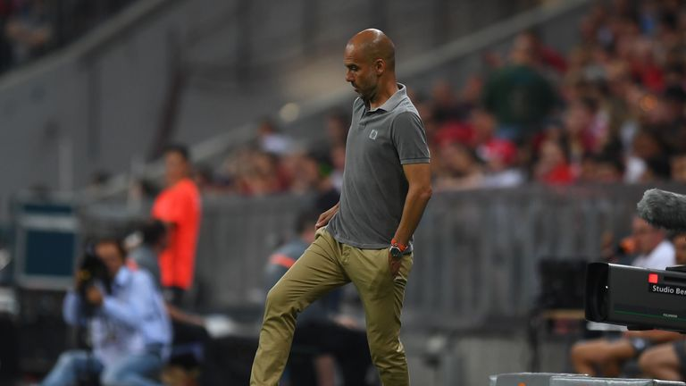 Pep Guardiola took charge of Man City for the first time on Wednesday