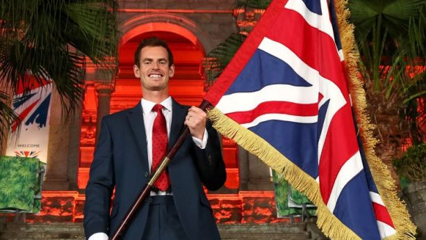 Andy Murray will carry the flag for Great Britain