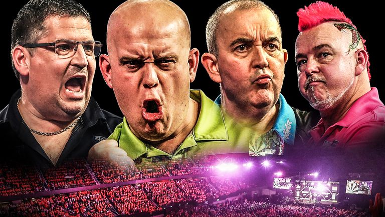 Michael van Gerwen, Phil Taylor, Gary Anderson and Peter Wright contest Premier League play-offs ...