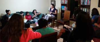 Sharie teaching Bible study