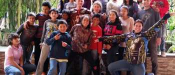 Paintball wiht the children from Fundaninos