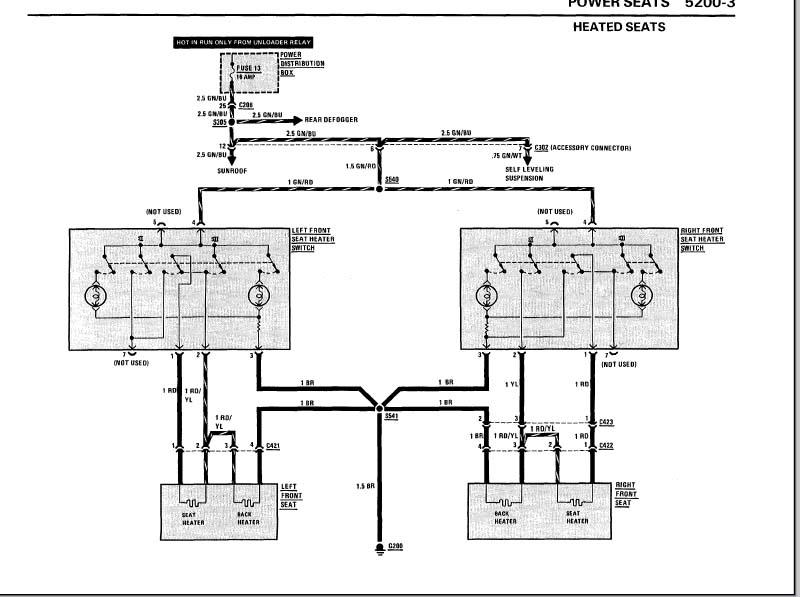 bmw seat wiring