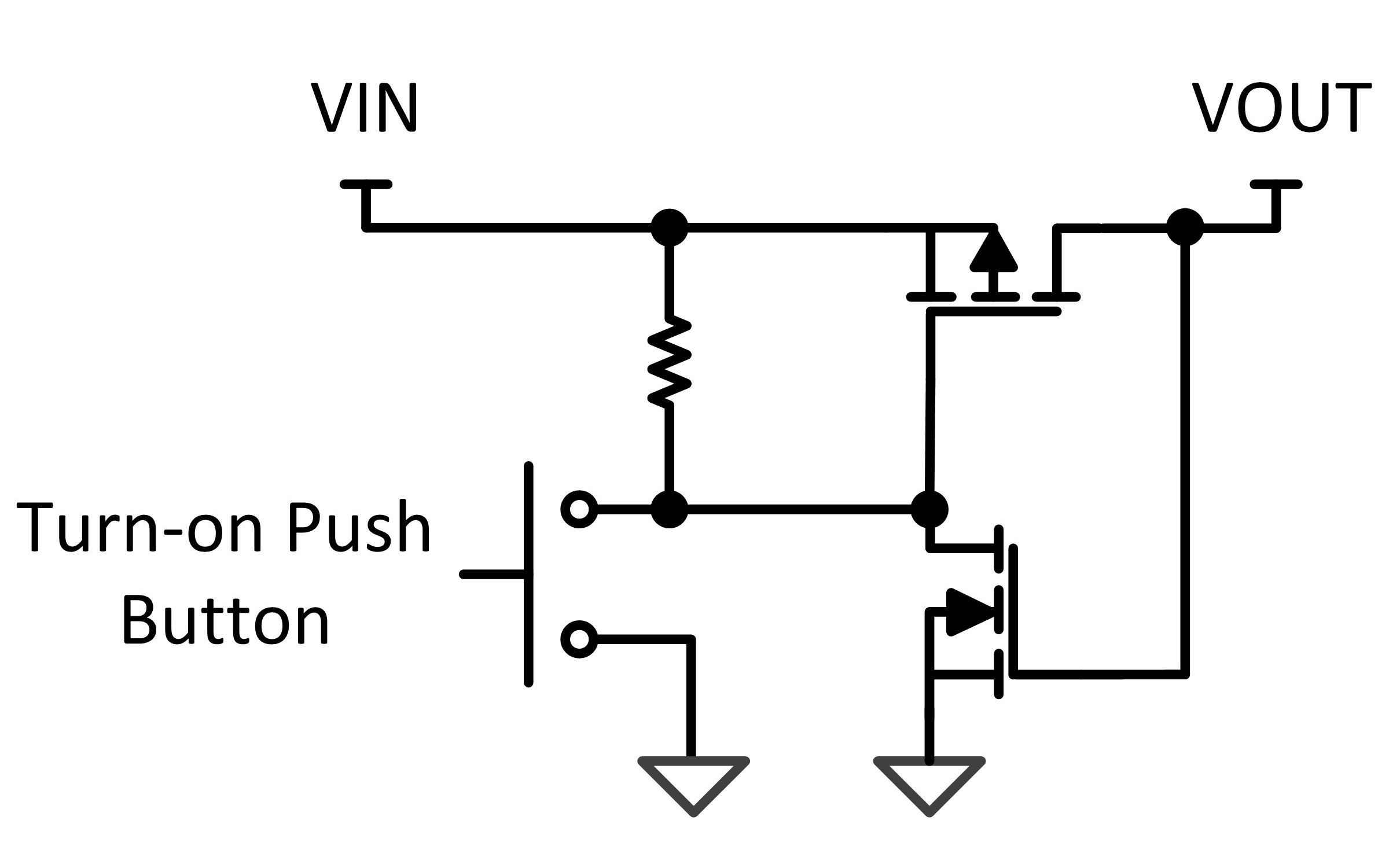 latching push button switch circuit