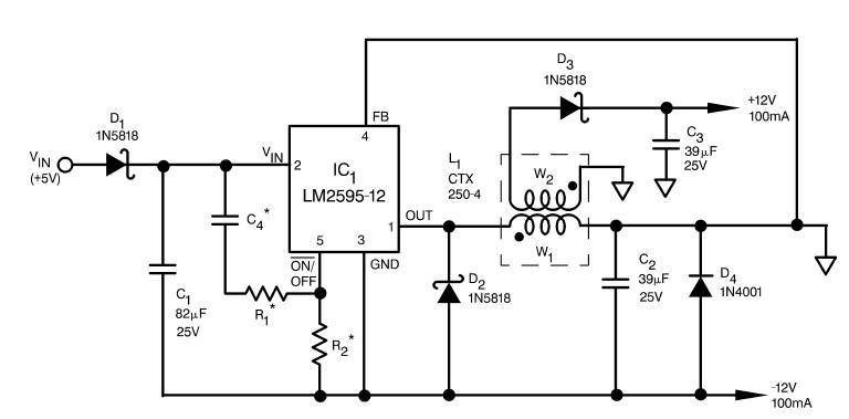 5v buck regulator using lm2678