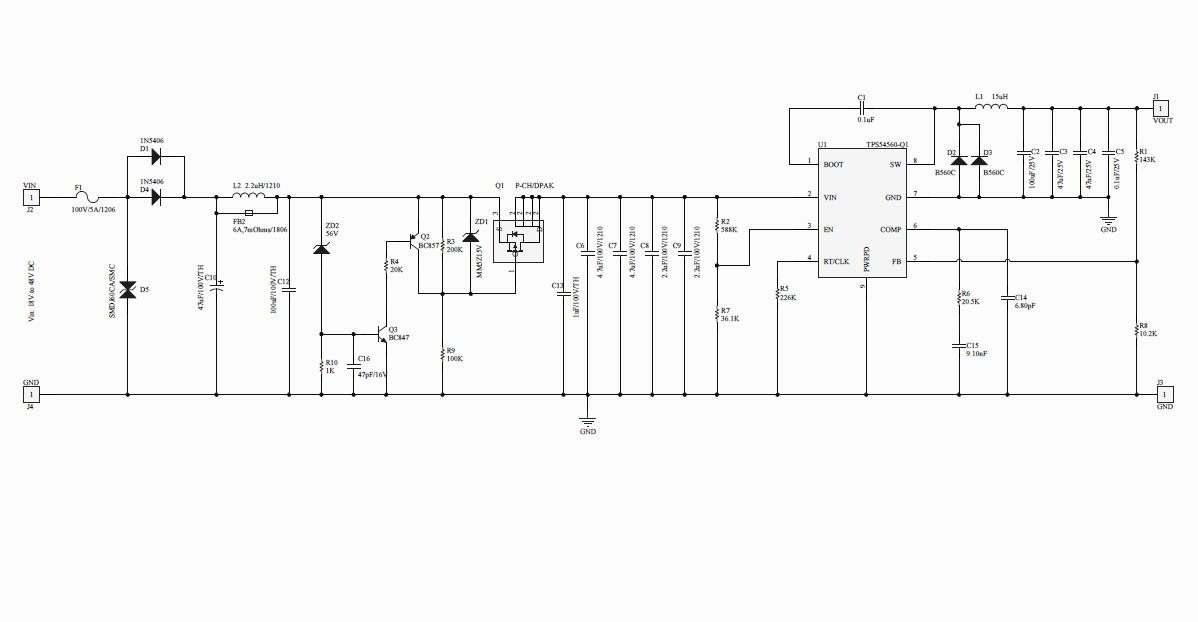Need help on Schematics/Layout verification for 48V - 12V, 5A power