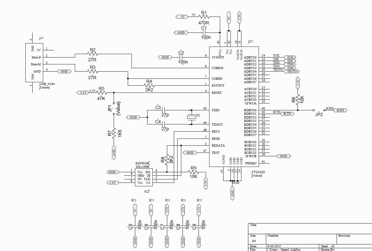 usb port circuit board