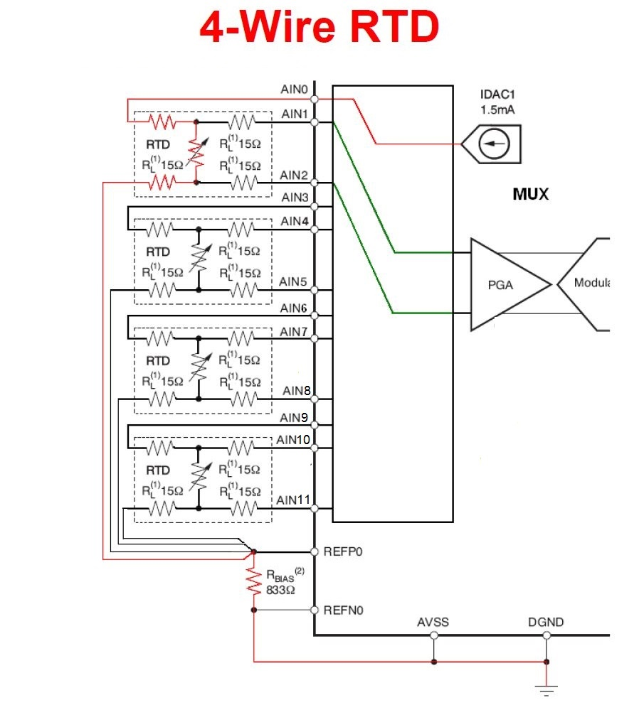 4 wire transmitter connection diagram