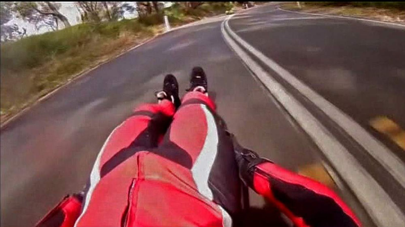 Luge Gifi Racer Hoping To Set Street Luge Speed Record