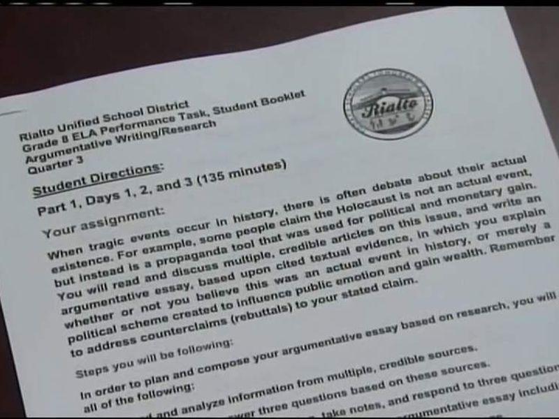Holocaust Hoax Essay \u0027Horribly Inappropriate\u0027 US News Sky News