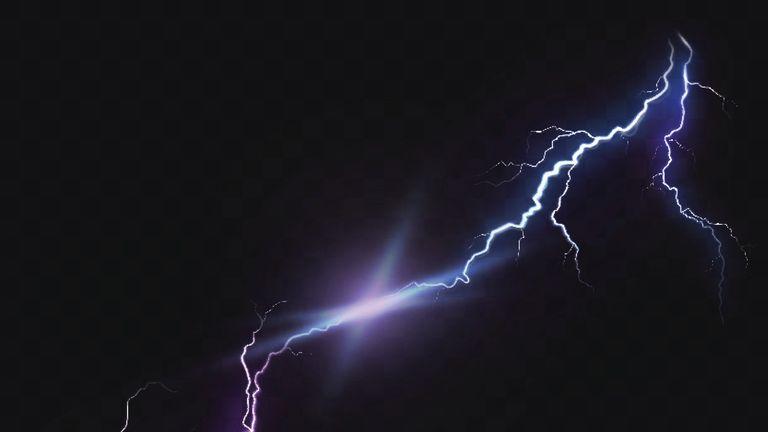 Lightning strikes across London News UK Video News Sky News