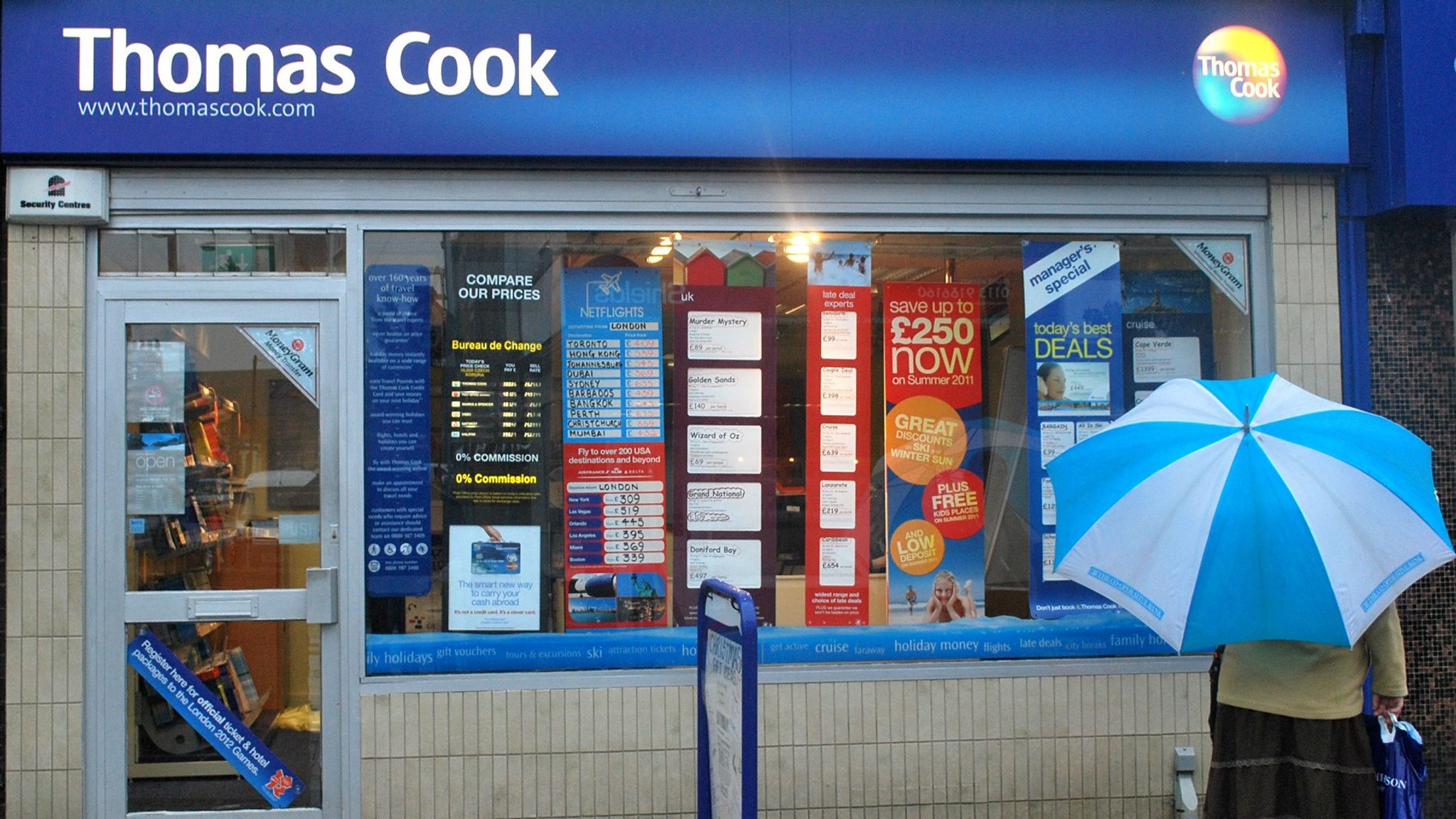 Stores Bureau Thomas Cook To Close 21 Stores Across Uk Uk News Sky News