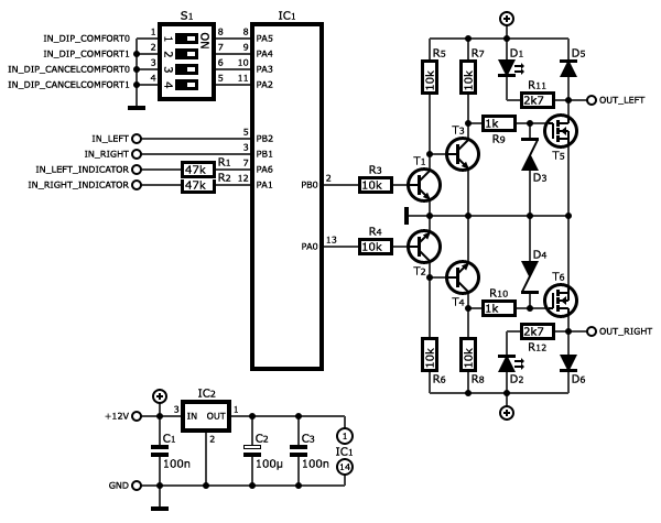 circuit diagram with switch