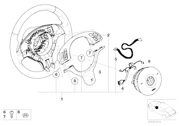 bmw e46 steering wheel wiring diagram