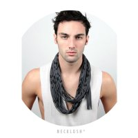 Hipster Scarf, Mens Scarf, Gray And Black Infinity Scarf ...