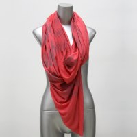Hipster Scarf, Coral Scarf Infinity Scarf - Boho Circle ...