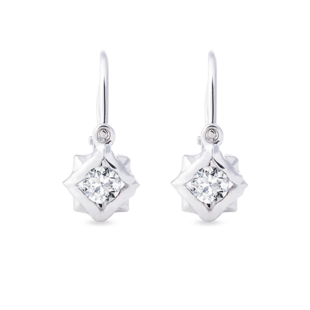 Baby 14kt white gold earrings