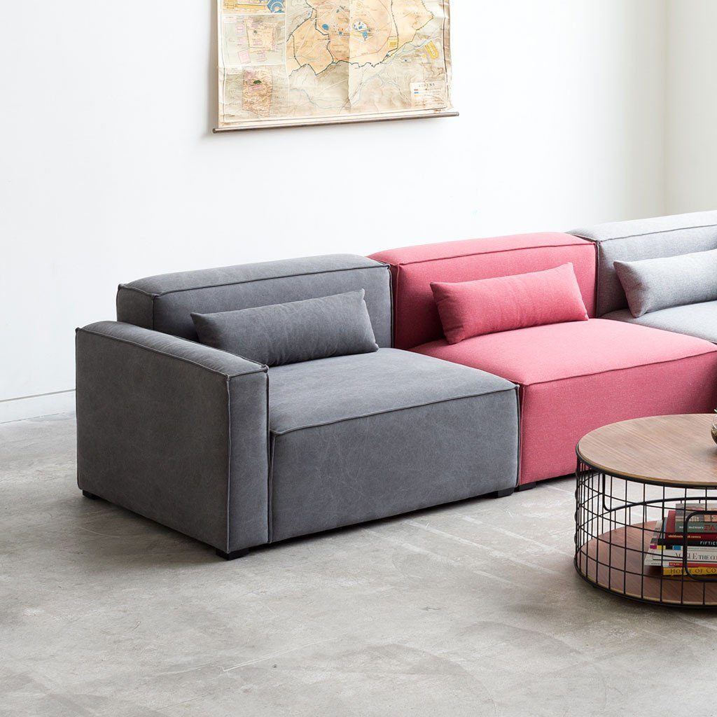 Modular Sofa Gus Mix Modular 1 Arm Chair Right The Century House