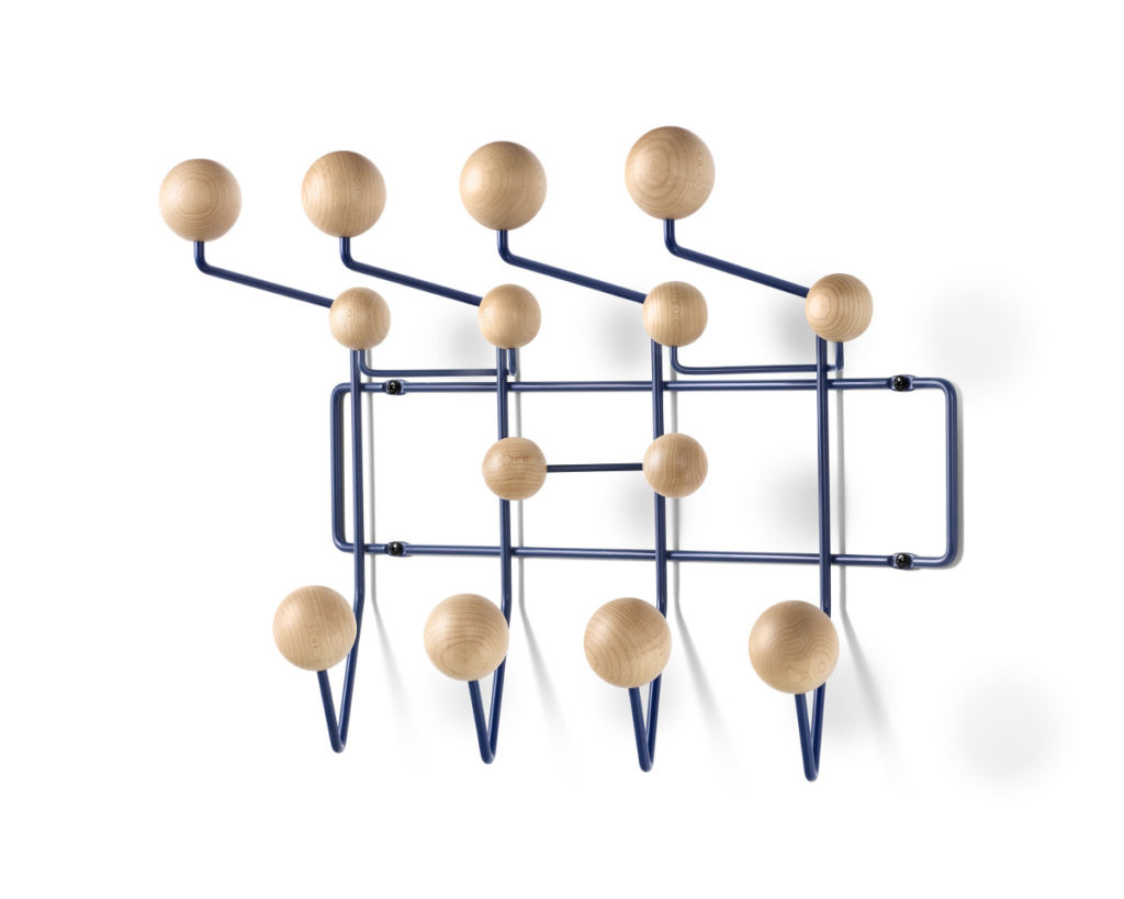 Herman Miller Eames Hang It All In Maple And Blue Mid Century Design