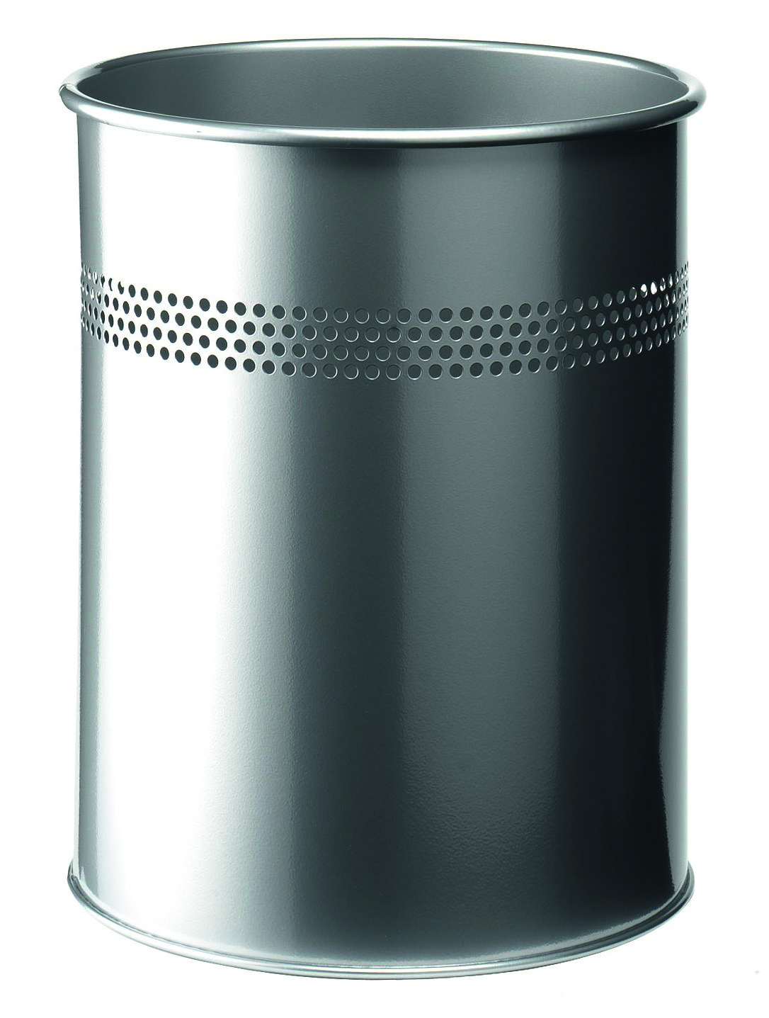 Decorative Metal Waste Baskets Durable Metal Waste Bin 15 Litre Silver 3300 23 Office