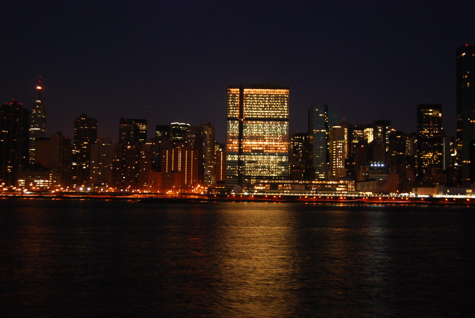 Building Lights At Night