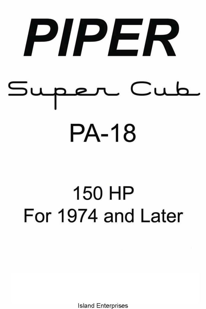 Piper PA-18 POH's Flight & Owner's Manuals