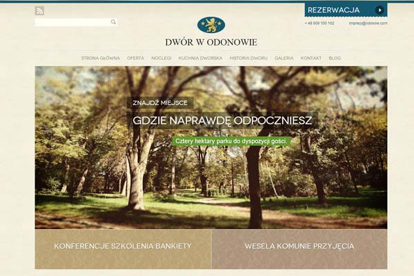 Dwor Odonow - website design
