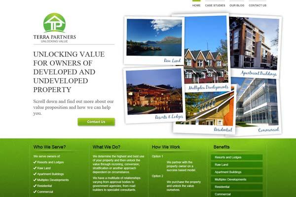 Terra Partners - website design