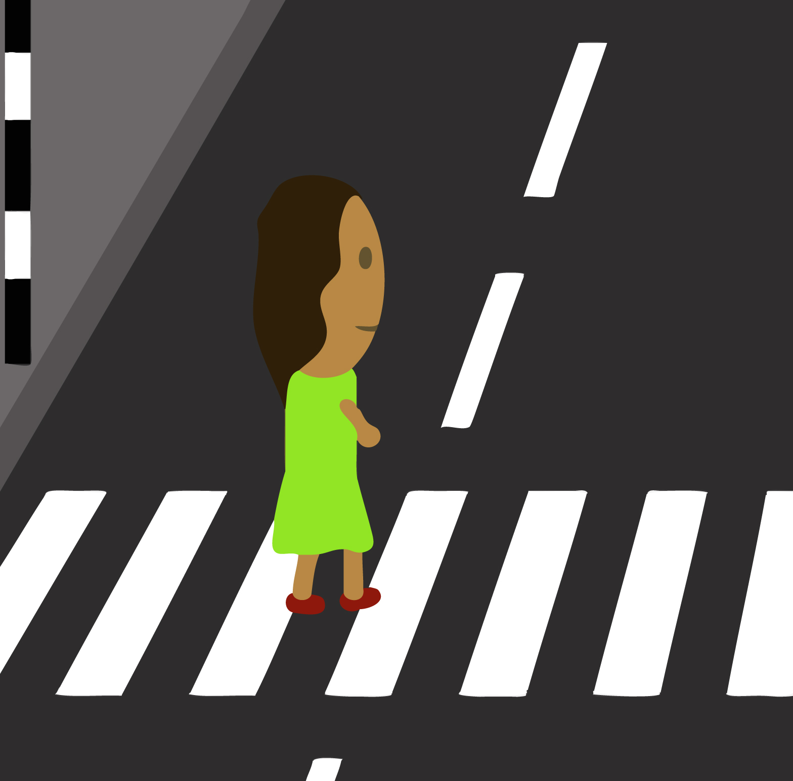 Road Crossing Clipart Zebra Crossing Illustration Free Early Years And Primary