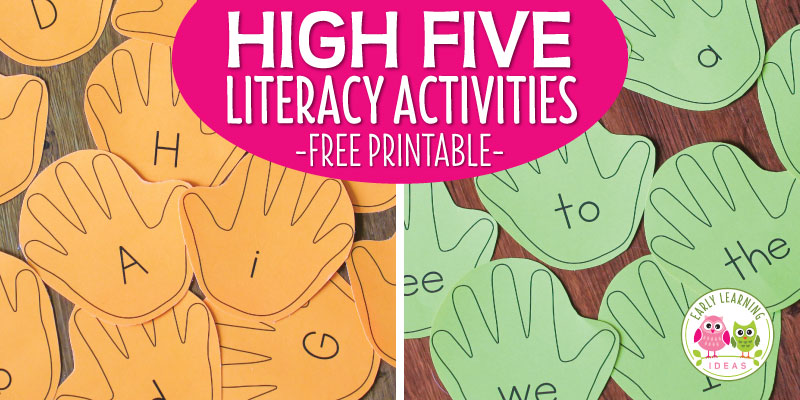 How to Make Fun Literacy Activities with a Free Editable Hand