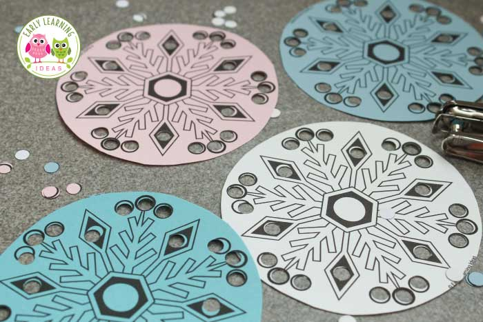 The Best Simple Snowflake Fine Motor Activity - Early Learning Ideas