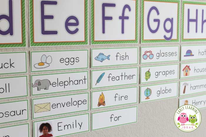 Name Cards Make Name Cards for Your Word Wall - Early Learning Ideas - template for name cards